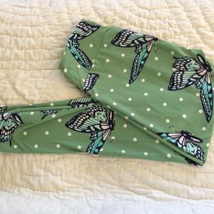 LuLaRoe Butterfly leggings one size